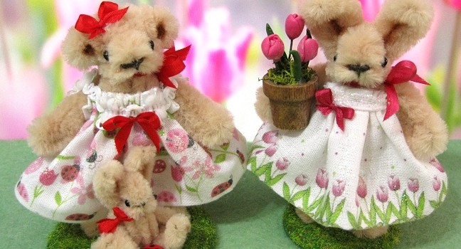 Spring Bear and Bunny